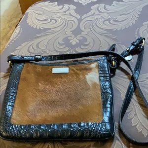 Black Leather Brahmin Crossbody
